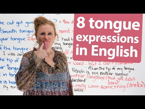 Learn 8 Expressions in English with 'Tongue'