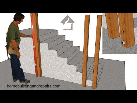 How To Attach Wood Guardrail Post To Existing Concrete Stairs - Do-It-Yourself Home Repairs