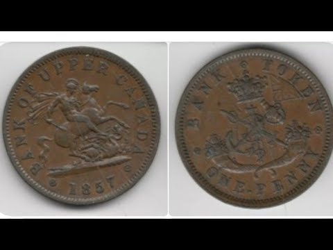 CANADA 1857 ONE PENNY Coin VALUE - Bank Of Upper Canada 1857 Bank Token