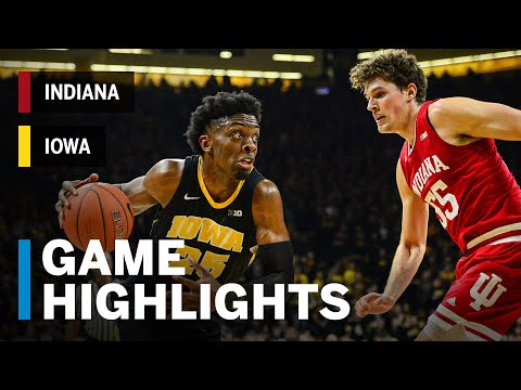 download Highlights: Indiana at Iowa | Bohannon Beats the Buzzer to Force Overtime | Big Ten Basketball