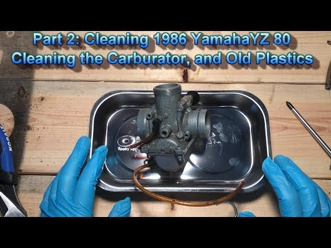 Carburetor clean of 1986 Yamaha YZ 80, and overall cleaning