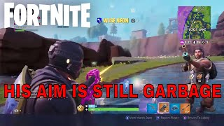 HIS AIM IS STILL GARBAGE - Fortnite Battle Royale Kinda Funny Moments