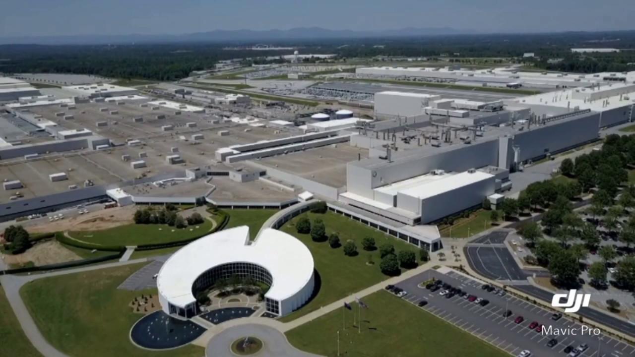 Bmw Greenville Sc >> Drone Aerials Bmw Mfg Corp Plant Spartanburg Sc Auto Assembly