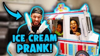 Ice Cream Prank on Daddy! Kids Pretend Play | FamousTubeKIDS