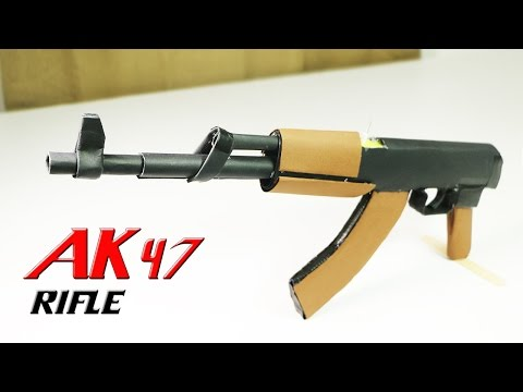 How To Make A Fully Automatic Paper Ak 47...