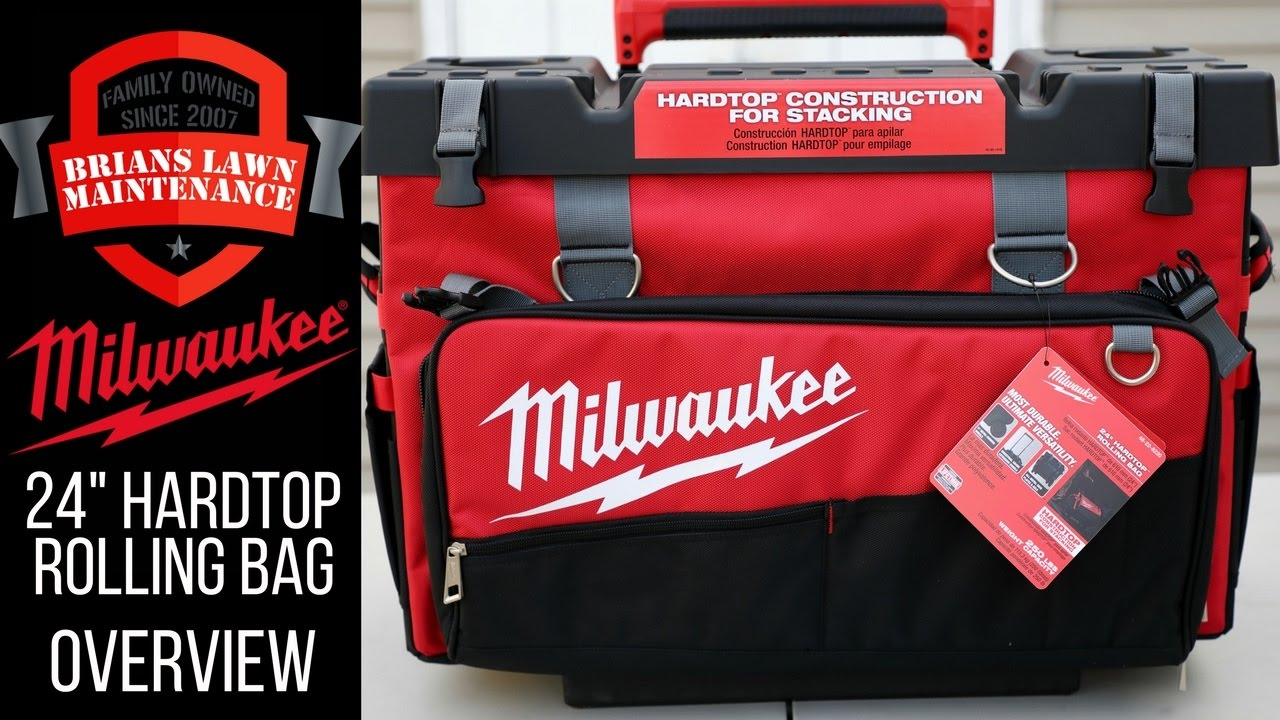 Milwaukee Tool 24 Hardtop Rolling Bag 48 22 8220 Intro Overview