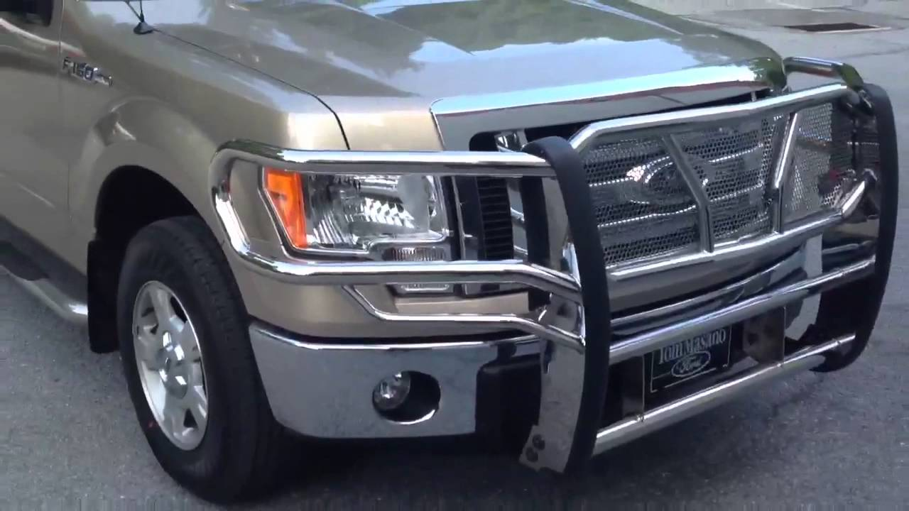 Ford F150 Brush Guard >> 2012 F150 grille guard seat covers - YouTube