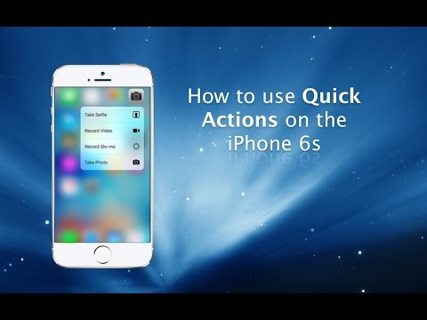 ... Quick Actions with 3D Touch on iPhone 6s and iPhone 6s Plus - YouTube