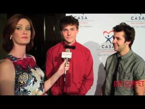 Alex Ernst & David Dobrik #Vine at the 3rd Annual Evening to Foster Dreams Gala #CASAOfLA