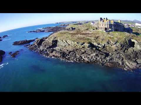 Drone Flight over Trearddur Bay
