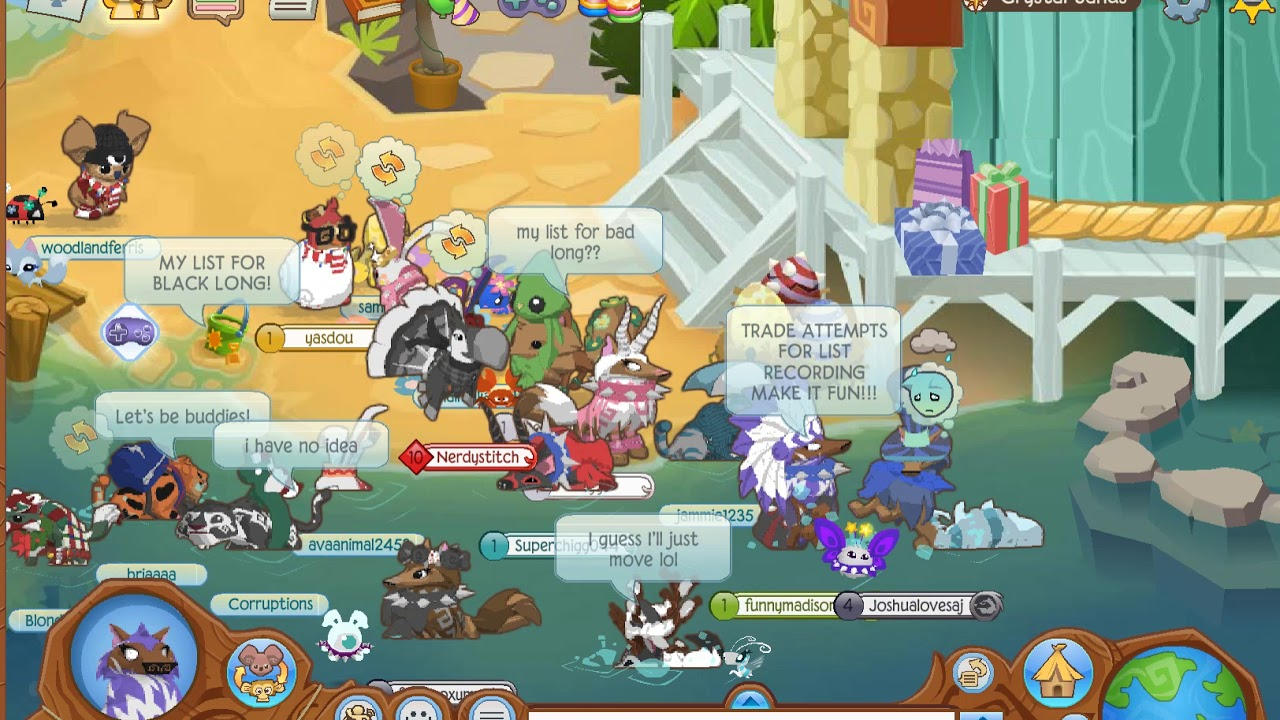 animal jam trade attempts for list!!! - YouTube