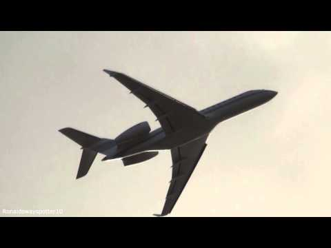 Global Express Go-Around @ Ronaldsway Isle of Man Airport 2013 HD