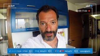 عادل كرم يصحبكم في جولة داخل شقته: من هنا أتابع السوشيال ميديا الخاصة بي Adel Karam
