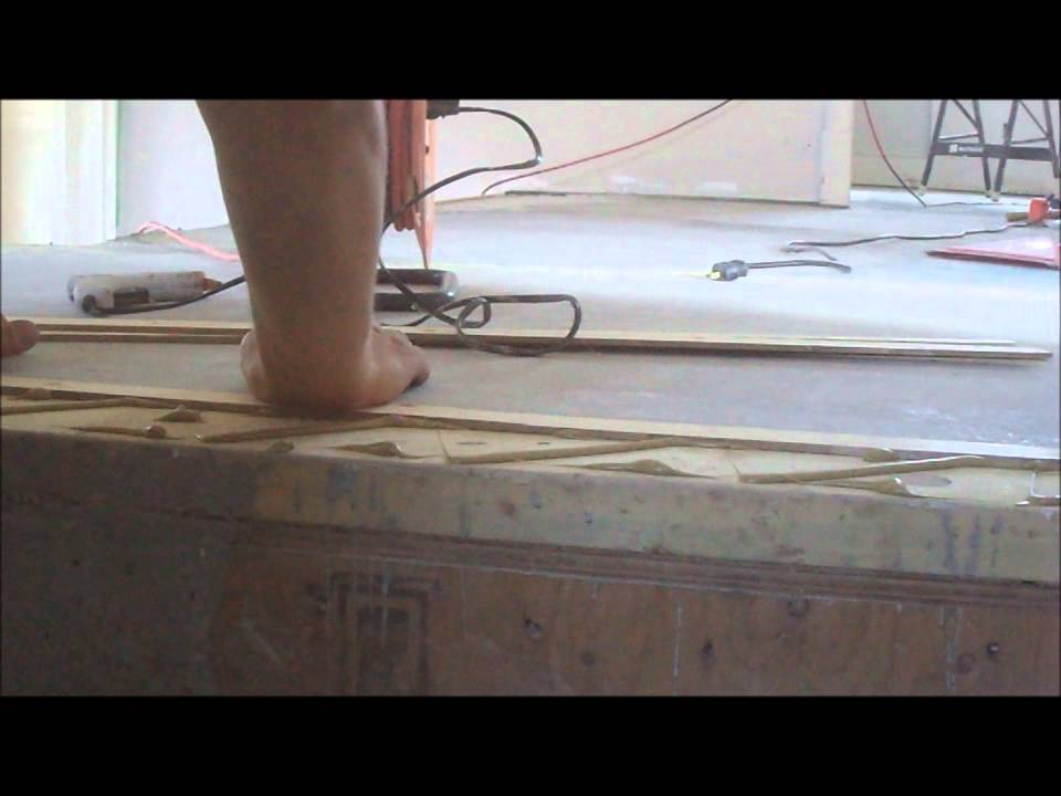 Hardwood And Laminate On Stairs: Stairs Nose Preparation And Leveling  Mryoucandoityourself