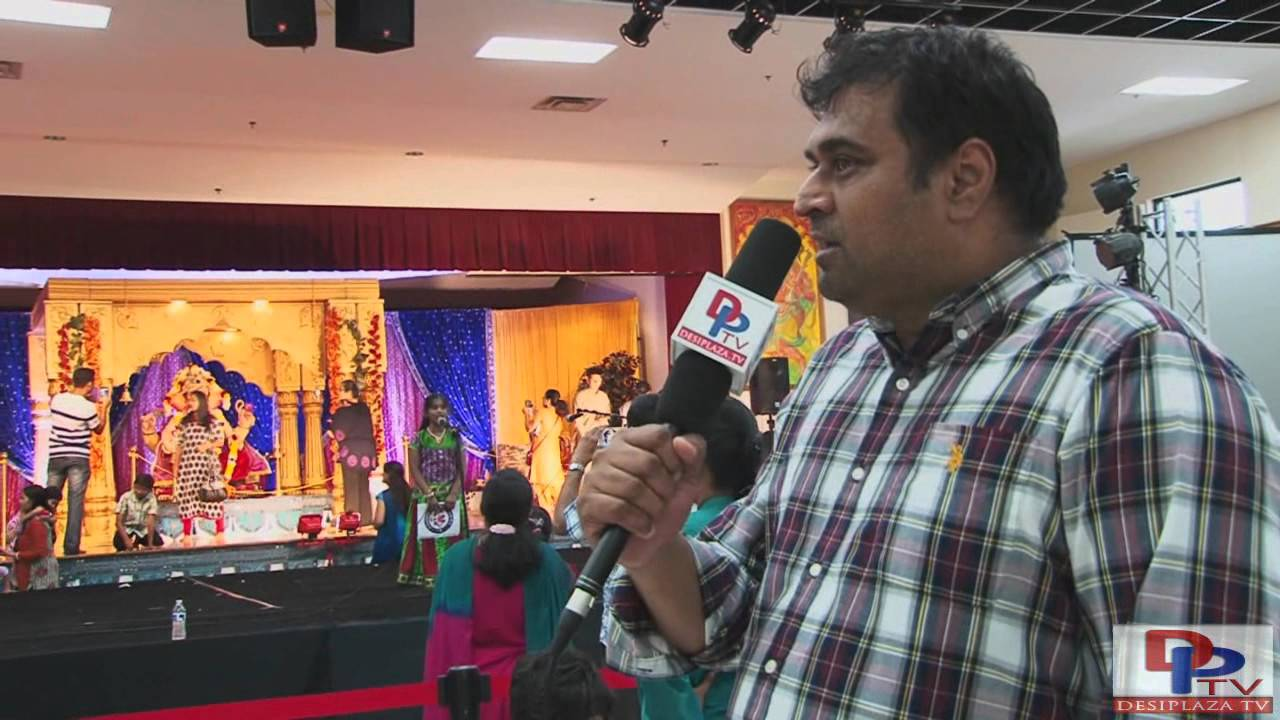 Tejas Shroff,Volunteer from Siddhivinayak Ganpati Mandal speaking to Desiplaza TV