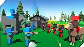 РАНДОМНЫЕ ЭПИЧЕСКИЕ БИТВЫ - Игра Ancient Warfare 3 Эпические битвы солдатиков. Мультик для детей.