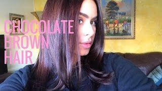 GETTING RID OF HIGHLIGHTS | CHOCOLATE BROWN HAIR