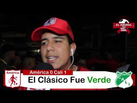 América vs Deportivo Cali [0x1] HINCHAS Y ZONA MIXTA Fecha 12 Liga Águila 2019