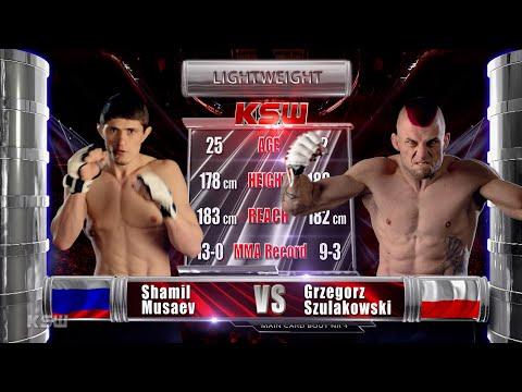 KSW Free Fight: Shamil Musaev vs Grzegorz Szulakowski   KSW 58