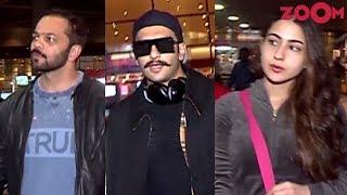 'Simmba' Stars Ranveer Singh, Sara Ali Khan & Rohit Shetty spotted at the airport