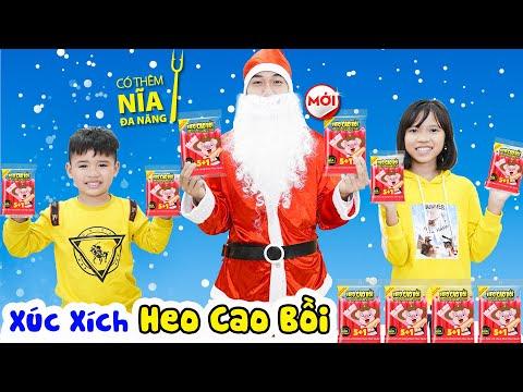Noel Vui Vẻ Cùng Xúc Xích Dinh Dưỡng Heo Cao Bồi Ăn Với Mì Siêu Ngon ♥ Min Min TV Minh Khoa