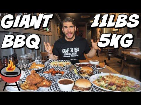 HUGE SOUTHERN BBQ CHALLENGE | Alabama BBQ | Fried Chicken, Cat Fish, Sausage, Brisket | Man Vs Food