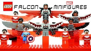 LEGO® Falcon Avengers Sam Wilson Marvel Super Heroes Minifigure Collection