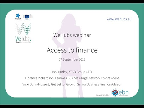 WeHubs Webinars#4  Access to finance