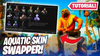 "How to use ""AQUATIC SWAPPER* In fortnite! (Skin Changer)"
