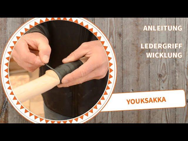 Anleitung Bogenbau: Ledergriffwicklung selbstgemacht