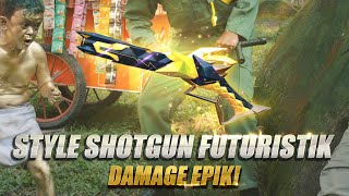 Shotgun style futuristik, damage-nya EPIK   Garena Free Fire Indonesia