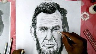 How to draw Abraham Lincoln is step by step tutorial for beginner