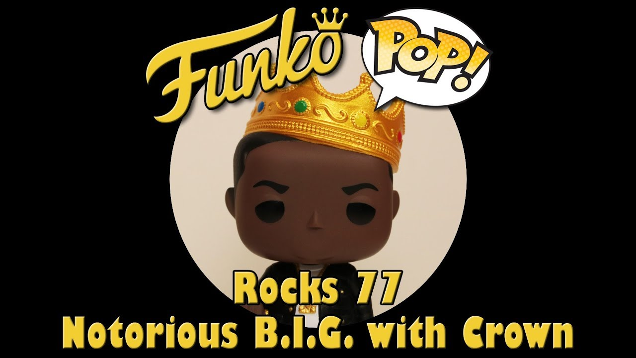 Notorious B I G With Crown Funko Pop Unboxing Rocks 77 Youtube All orders are custom made and most ship worldwide within 24 hours. youtube