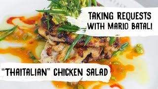 Mario Batali Cooks Crispy Grilled Chicken Paillards with Thai-Inspired Avocado Salad