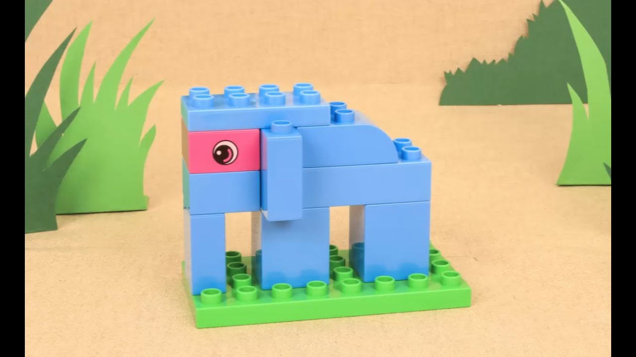 how to build an elephant safari lego duplo diy youtube. Black Bedroom Furniture Sets. Home Design Ideas