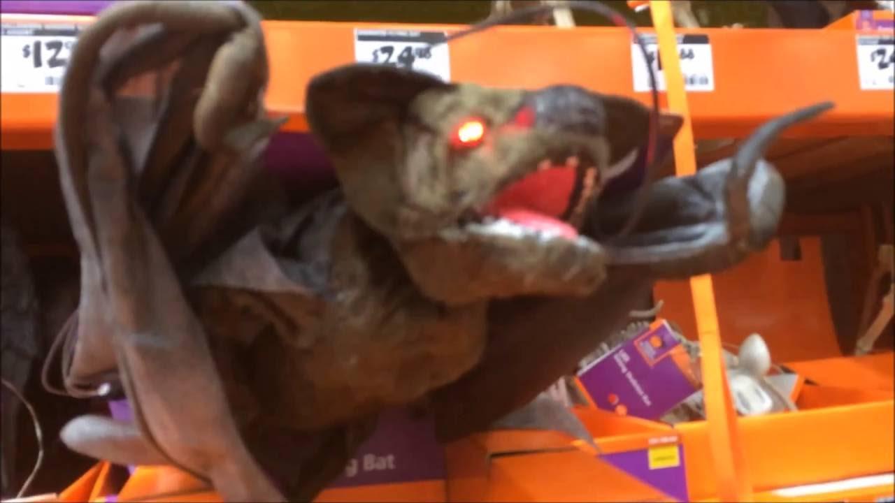 Creepy Animated Bat At Home Depot Halloween 2016 In San