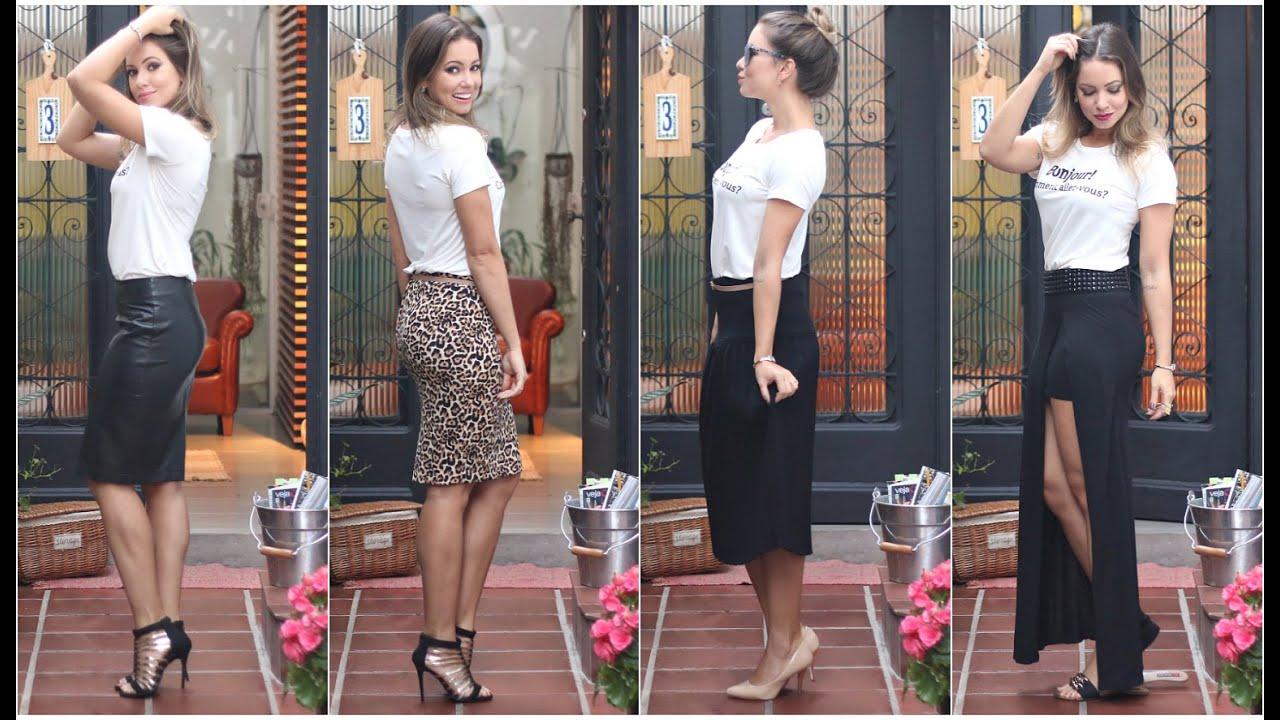 Conhecido Modelos de Saia da Moda | Saia Lápis, Saia Midi e Saia Longa - YouTube WT15