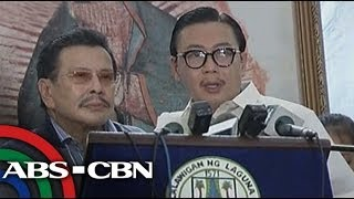 Bandila: ER Ejercito leaves Laguna capitol after Erap visit