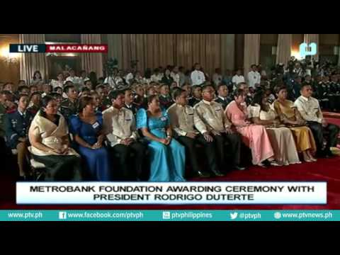 Pres. Duterte's conferment of 2016 Metrobank Foundation's Ou