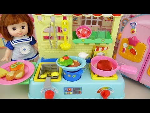 Baby Doll Kitchen food shop toys baby Doli play