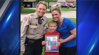 Police officer sees Facebook post, surprises family by donating kidney to boy