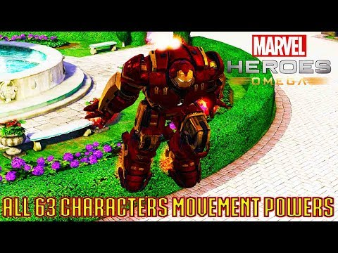 Marvel Heroes Omega - All Movement and Travel Powers for All 63 Characters