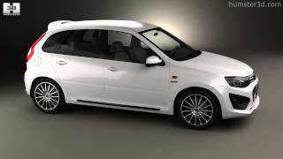 Lada Kalina (2192) Sport 2014 by 3D model store Humster3D.com