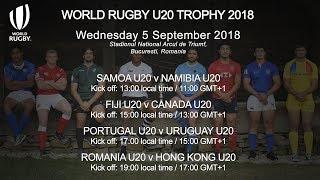Live: World Rugby U20 Trophy Matchday 3 -  Romania v Hong Kong
