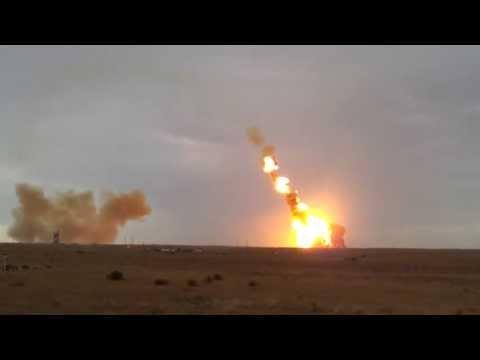 "Crash rocket ""Proton-M"" with 3 Glonass spacecraft  / Аварийный пуск ""Протон-М""  02.07.2013"