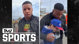 Saquon Barkley Has Emotional Meeting W: 11 Year Old Snubbed By Cowboys Star | TMZ Sports