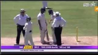 Mitchell Johnson bouncer to Virat Kohli - Aussies Emotional ! All players worried by incident!