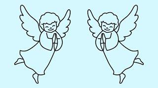 Как нарисовать ангела | How to draw an angel | Cómo dibujar un ángel(Как нарисовать ангела | How to draw an angel | Cómo dibujar un ángel | Como desenhar um anjo | Wie man einen Engel zu zeichnen | Comment dessiner un ..., 2014-12-26T01:17:45.000Z)