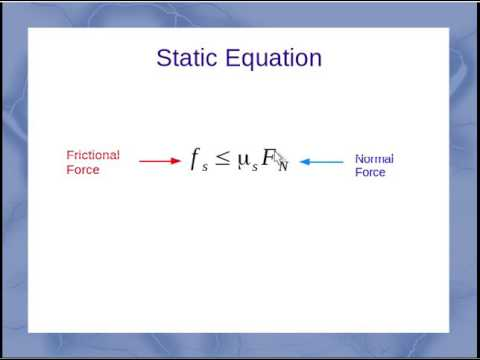 how to find static friction force