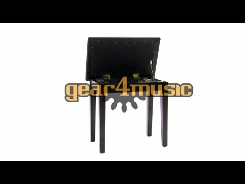 Piano Stool With Storage By Gear4music